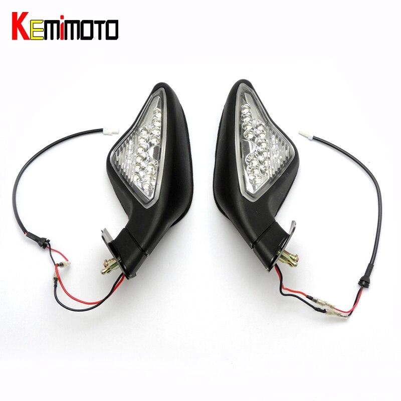 KEMiMOTO зеркала заднего вида мотоцикл света сигнала поворота для Ducati 848 1098 1098SR 1198S 1198R 2007-2012