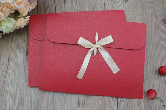 S ukuran 24*18*0.7 cm busur Amplop kertas Kraft tas saku Saputangan Saputangan Sutra syal kotak kemasan amplop box100pcs/llot