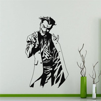 Specialized Joker Whole Pattern Wall Stickers Batman Famous Movie Character Art Wall Decals Home Decorative Vinyl Mural