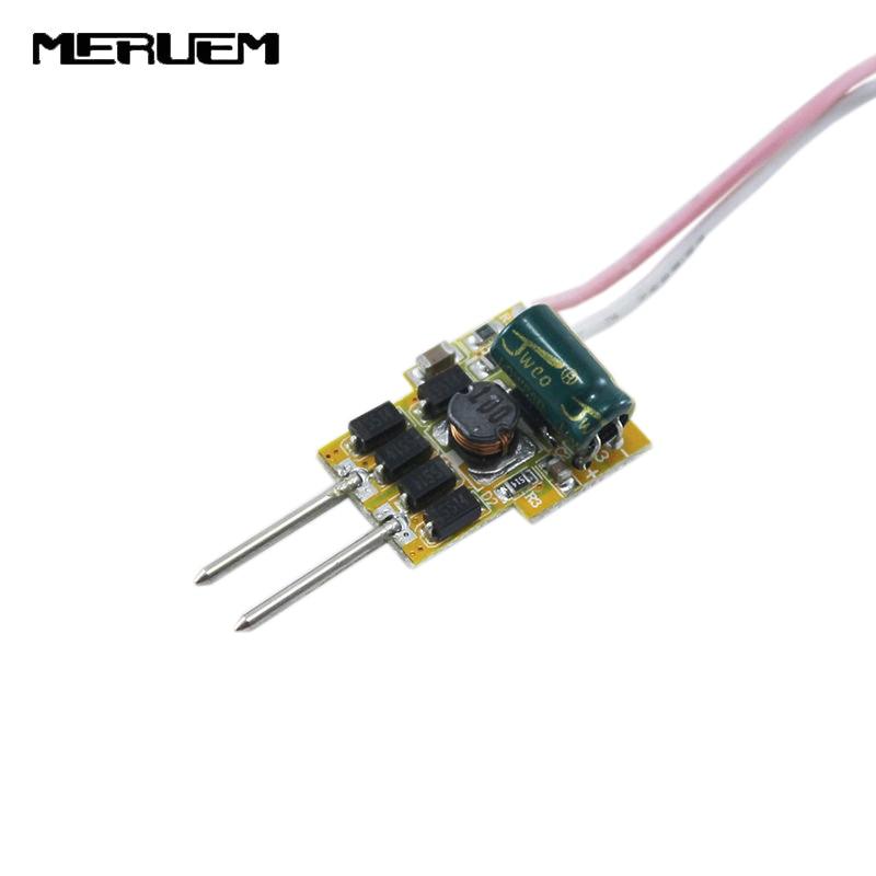 Gratis verzending 6 stks / partij 4-7x1w 300mA MR16 LED driver, Input dc12v, uitgang dc12v-25v voor 4w 5w 6w 7w Spots Gratis schip