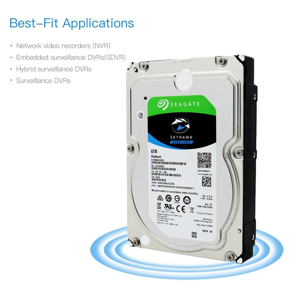 Seagate ST6000VX0023 6 TB Vidéo Surveillance HDD Disque Dur Interne 7200 RPM SATA 6 Gb/s 3.5 pouce 256 MB Cache DISQUE DUR Dur disque
