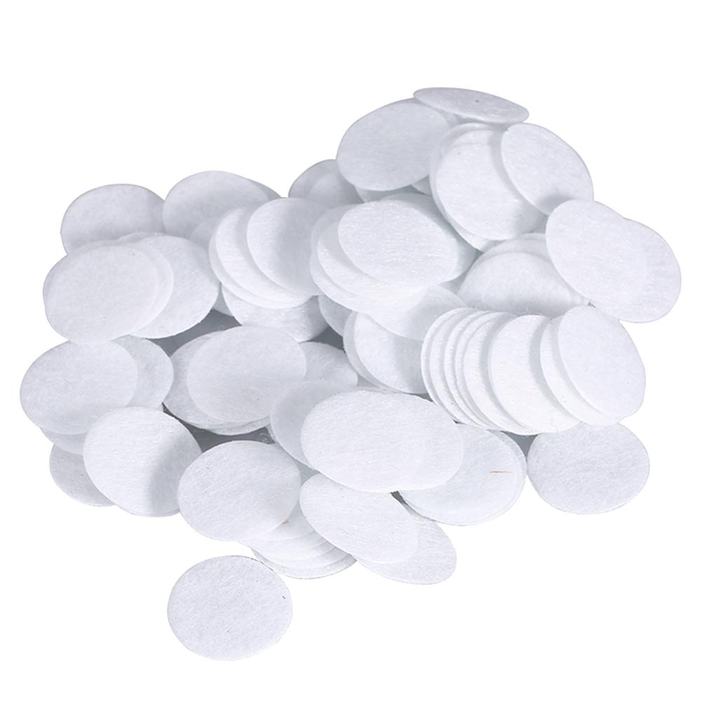 100pcs Cotton Filter Round Replacement Filtering Pads Sponge For Blackhead Removal Beauty Machine (15mm)