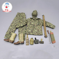 1:6 Scale WWII US Army Soldier Pacific War Iwo Jima Whisperer Uniform Coat Trousers Boots Model 12 Inches Figure Accessory
