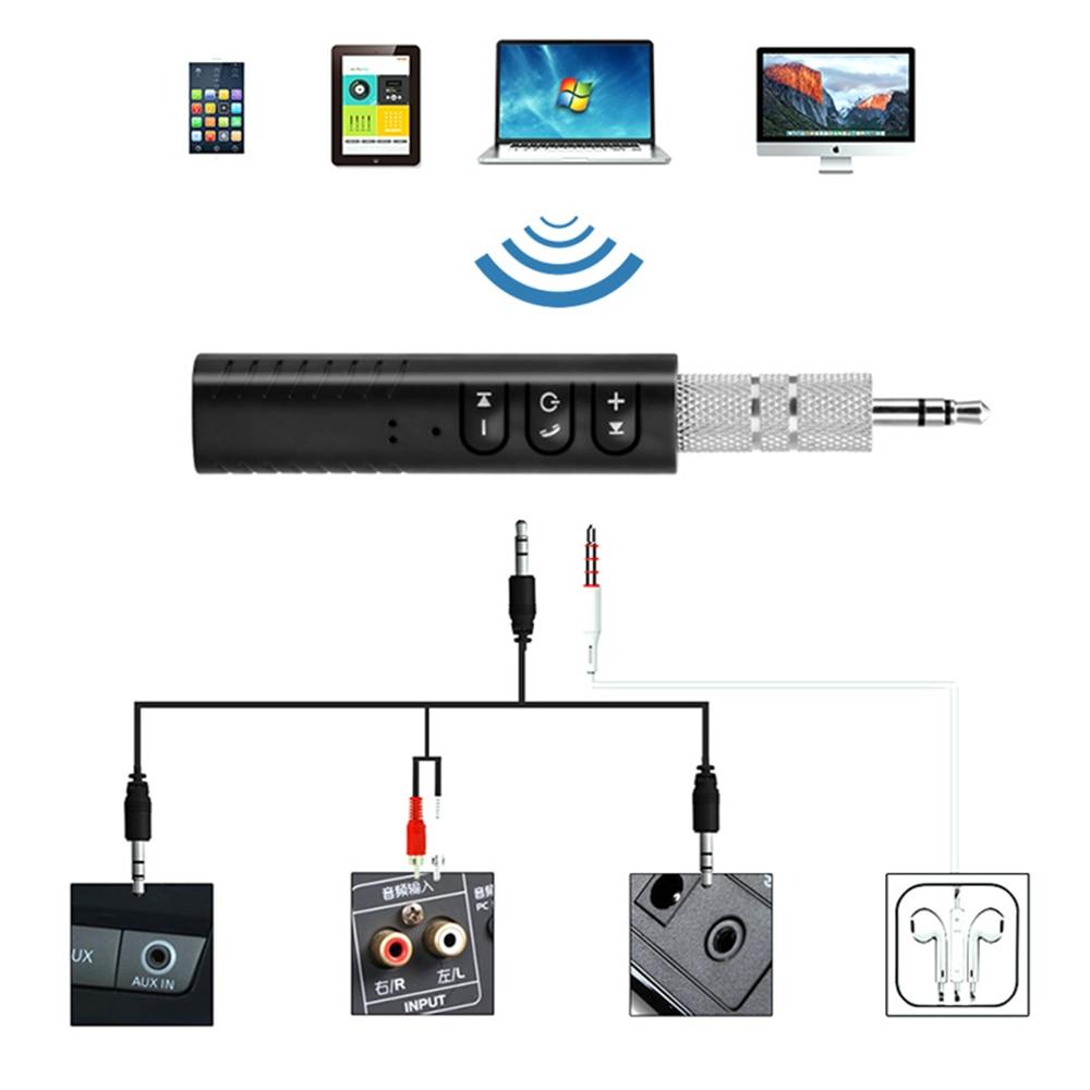 Bluetooth Earphone HandsFree Wireless Bluetooth Receiver Adapter 3.5mm Jack Car Aux Audio Music for Phones Speakers Headphones (3)
