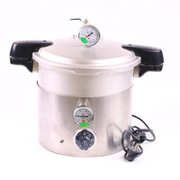 Autoclaves Pressure Cooker Sterilizer With Adjustable Pressure, Cooker with silicone rubber seal ring.
