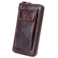2019 New Luxury Designer Real Cow Genuine Leather Men's Wallets for Credit Card Holder Cell Phone Clutch Wristlet Bag Coin Purse