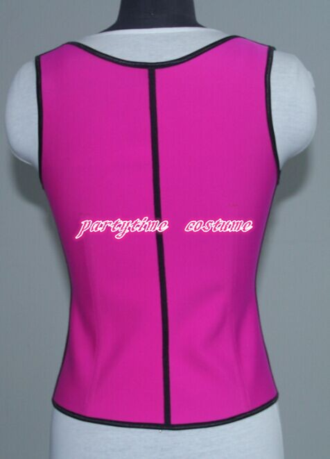 0408 pink latex rubber corset back