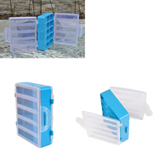 1 PCS 10 Compartments Fishing Box Double Sided Transparent Visible Plastic Fly Fishing Explosion Hook Set Tackle Box Accessories