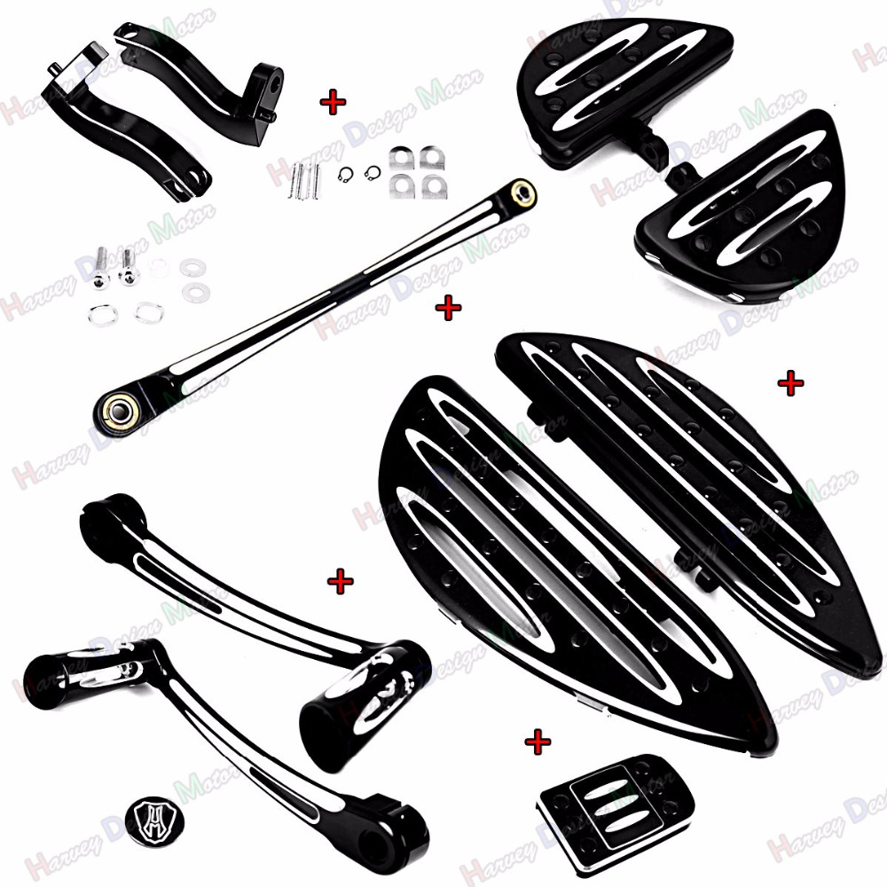 Heel Toe Shift&Linkage&F&R Passenger Driver Floorboard&Pedal For Harley Touring Street Glide Road King Road Glide FLH/T FLHX