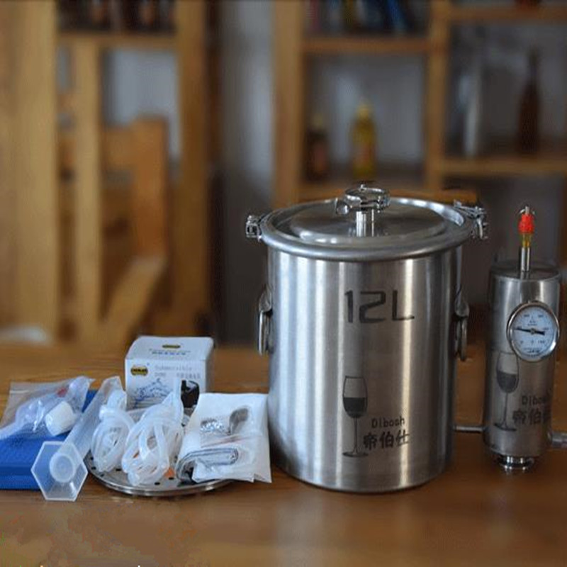 12L/20 L 3/5 Gal Moonshine distillateur Kit de brassage d'alcool distillateur en acier inoxydable