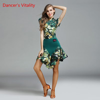 Dancer S Vitality 2017 New Latin Dance Dress Short Sleeves Cupcake Dress For Salsa Samba Tango
