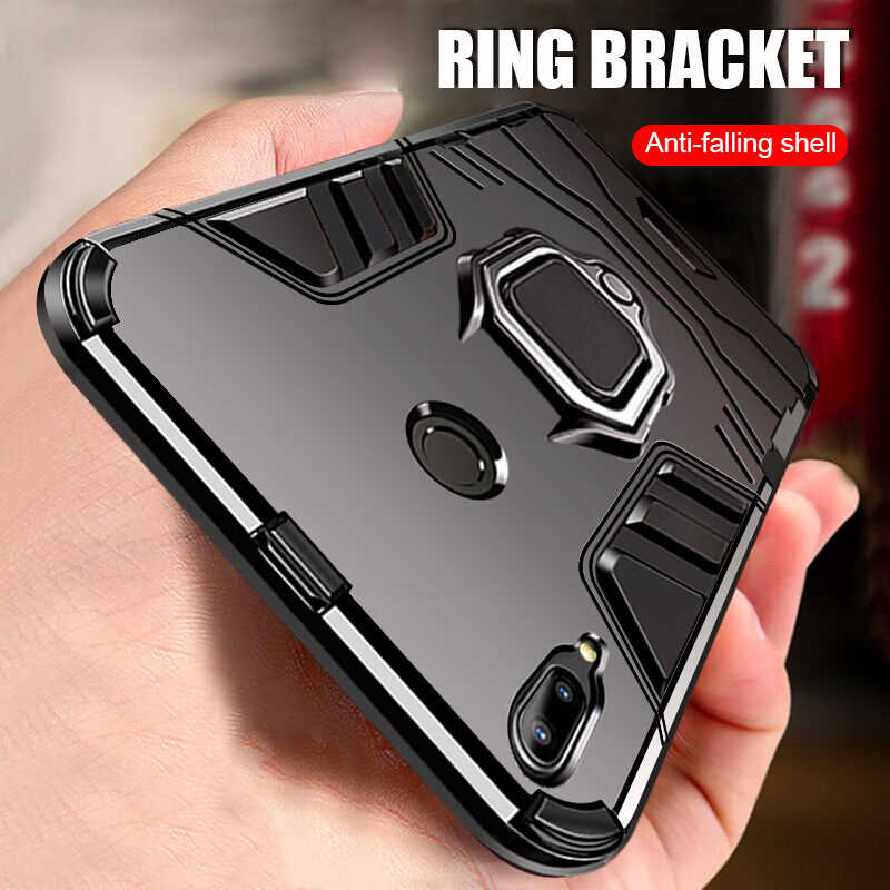 Luxury Magnet Metal Ring Case On The For Xiaomi Redmi Note 7 mi 8 Lite Shockproof Case For Xiaomi mi 8 SE A2 A1 Car Holder Case