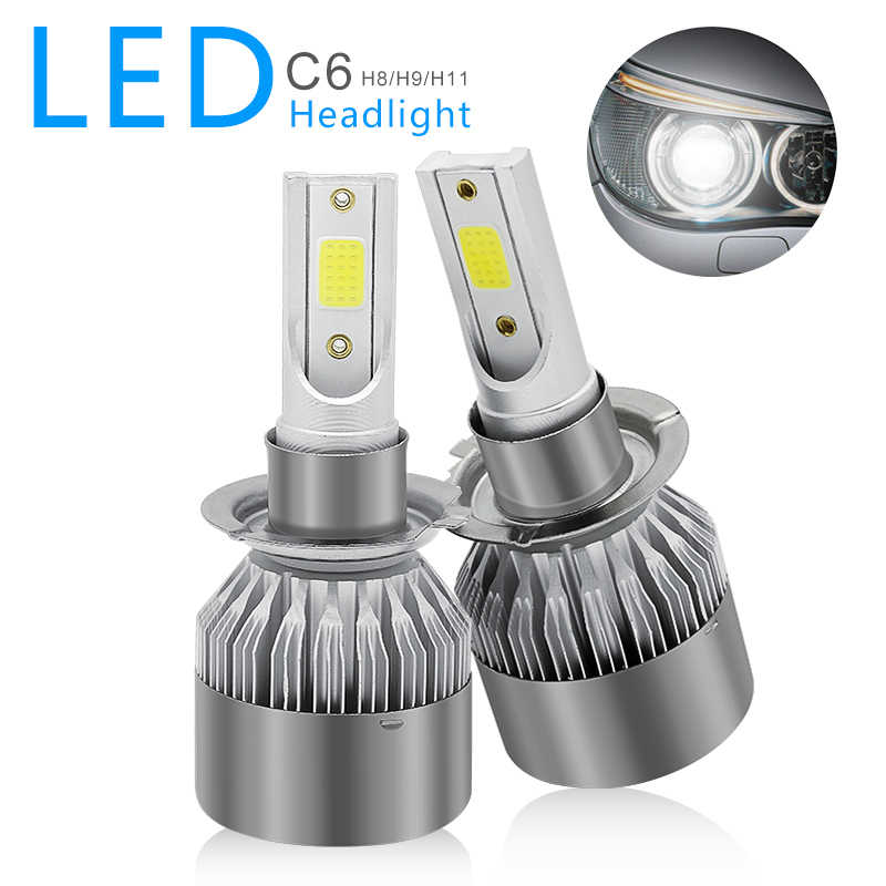 2pcs C6 led Car Headlight H7 LED Bulb 72W 8000lm Auto Lamps Daytime Running Lights 12V DRL For Renault Koleos 2009 -2017 Year