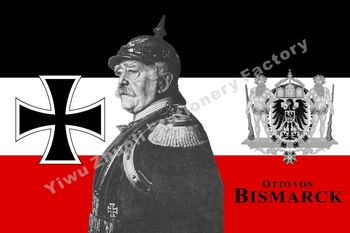 Germany Otto von Bismarck Flag 150X90cm (3x5FT) 120g 100D Polyester Double Stitched High Quality Banner Free Shipping image