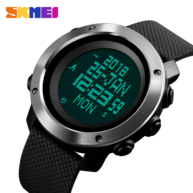 2380cd654df SKMEI Men Watch Compass World Time Pressure Pedometer Stopwatch Calorie  Electronic Digital Watches Relogio Masculino 1430 1431-in Digital Watches  from ...