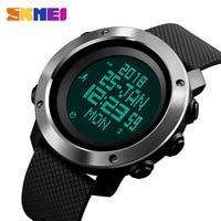 SKMEI Men Watch Compass World Time Pressure Pedometer Stopwatch Calorie Electronic Digital Watches Relogio Masculino 1430/1431