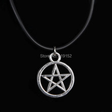 Vintage Pentagram Necklace Pendant Religious Supernatural Necklace Jewish Shield Star of David Jewelry Satan Charm Best Friends