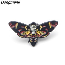 P3694 Dongmanli The Silence of the Lambs Butterfly Metal Enamel Pins and Brooches for Lapel Pin Backpack Bags Badge Cool Gifts