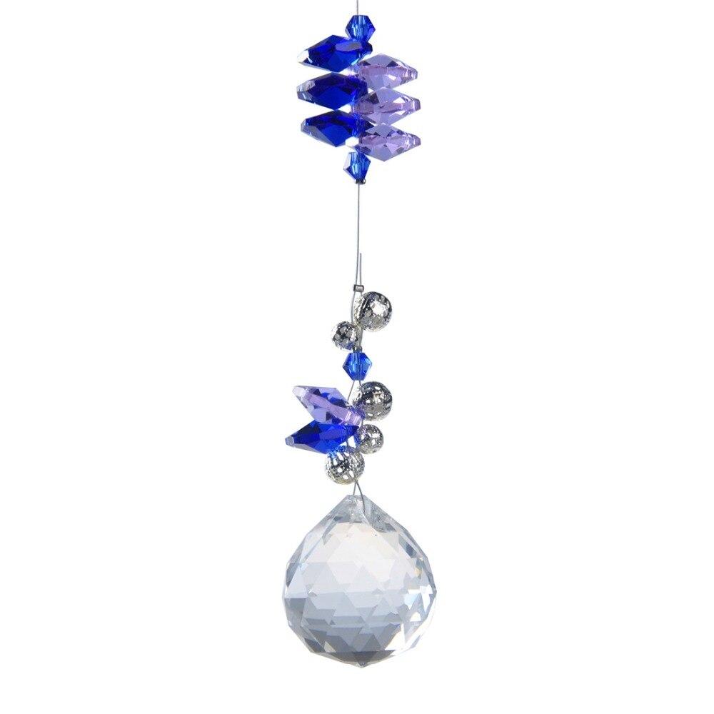 H&D Rainbow Maker Suncatcher Crystal Ball Pendulum Lamp Prism Feng Shui Pendant 30mm/40mm Home Wedding Decor Xmas Tree Ornaments