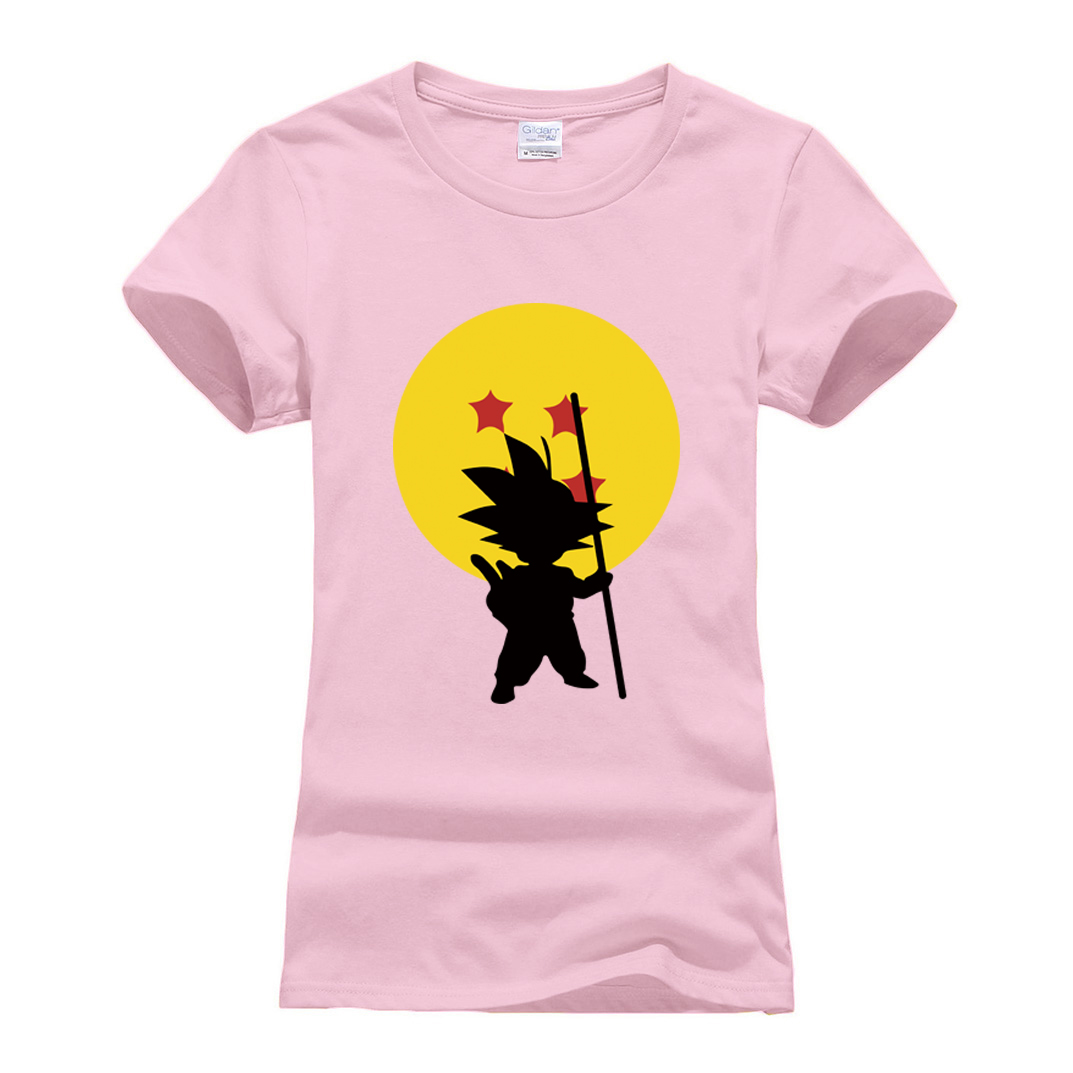 Cotton Short Sleeve O-neck T Shirt 2019 summer new Dragon Ball Z T Shirts women Cartoon Anime tees shirts Super Saiyan camisetas