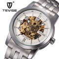 Casual man watches Mechanical Automatic steel male watches skeleton luxury brand tevise men's clocks luminous relogio hommer