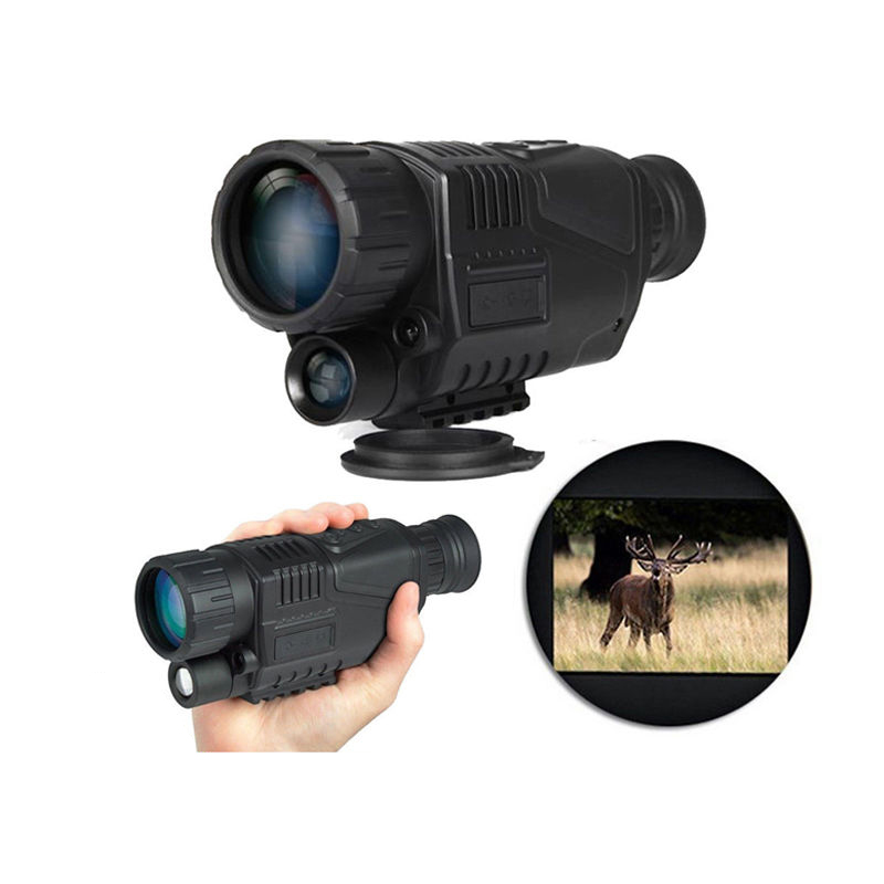 P1-0540 5x40 Infrared IR Digital Night Vision Monocular Scope 200 Meters 5MP Camera Video Photo + Inside 4GB SD Card RL29-0003 boblov 5x40 digital infrared night vision goggle monocular 200m range video dvr imagers for hunting camera device free 8gb card