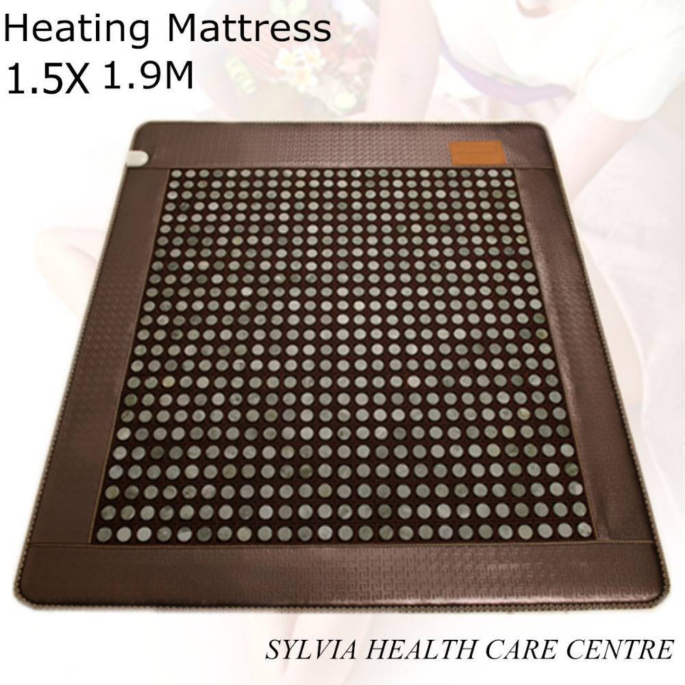 Good tourmaline mat jade health care heating bed mattress jade Physical therapy heat with free eye cover 1.5X1.9M/ 59''X74.8'' health care product for 2017 korea heated mattress heat mat with stones jade heating jade mattresswith free gift eye cover