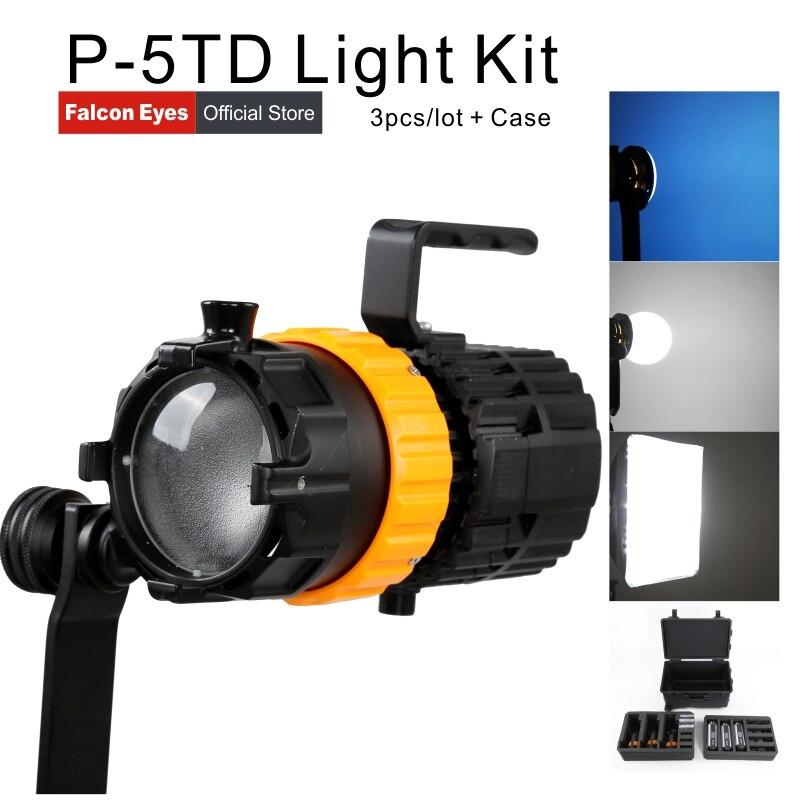 Falcon Eyes Mini Spot Licht 100 Watt Fotografie Licht Einstellbarer Fokus Länge Füllen Licht Pulsar 5 P-5TD 3
