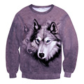 New Tie Dye 3D Animal Sweatshirt Wolf Dog Print Funny Hoodie Men Women Cool Sweats Tops Unisex Tide Pullovers Streetwear Clothes