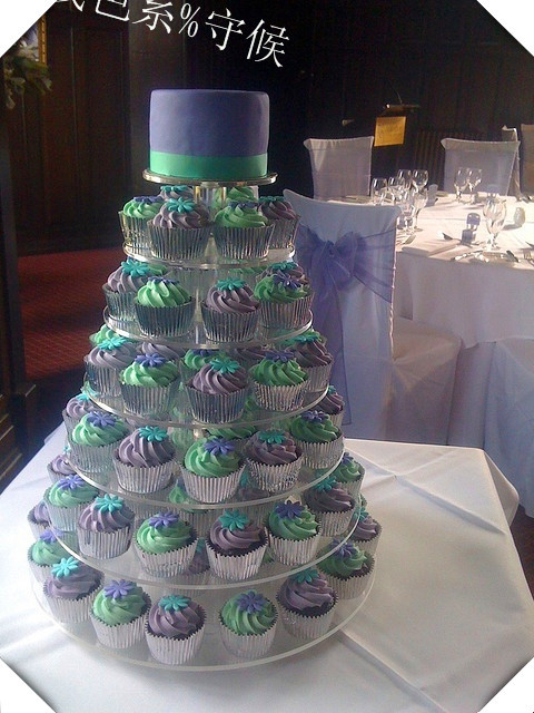 Vendeur paquet courrier 7 étage de la nouvelle acrylique gâteau double sucre gâteau d'anniversaire papier tasse cadre Le stand de gâteau de mariage décoration