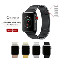 Link Bracelet Strap For Apple Watch 3 2 1 42mm 38mm Band Stainless Steel Metal Buckle