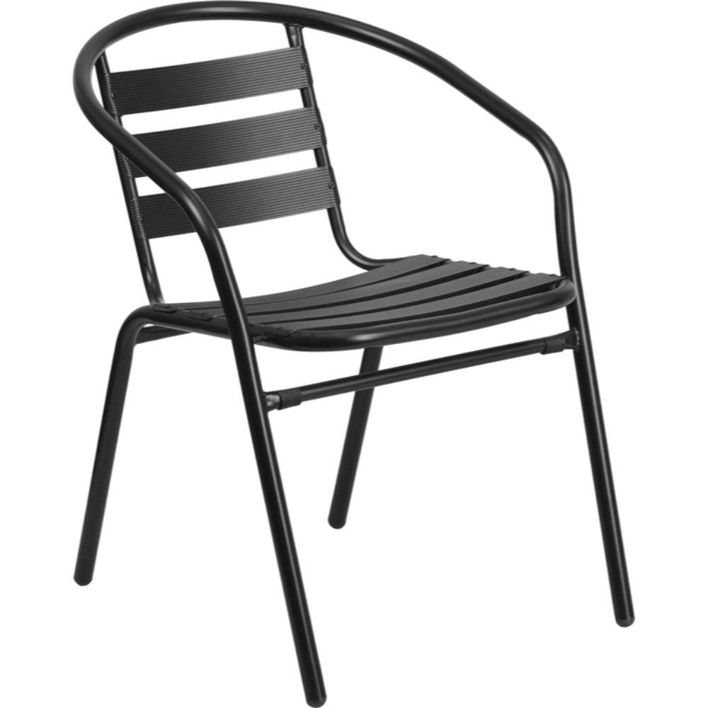 Black Metal Stack Chair Black trailhead trailhead homeboy black