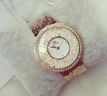 2016 Mujeres relojes de marca de lujo del diamante vestido de las señoras personalizada borla pulsera superficie quicksand reloj mujer reloj de la tabla femenina