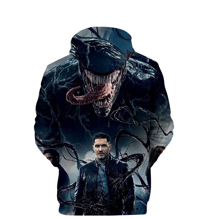 Comic Venom Hoodie Sweatshirts Men Superhero Anime Cool Black Autumn Winter Tops Plus Velvet Warm Hoody Couple Hip Hop Pullovers (7)