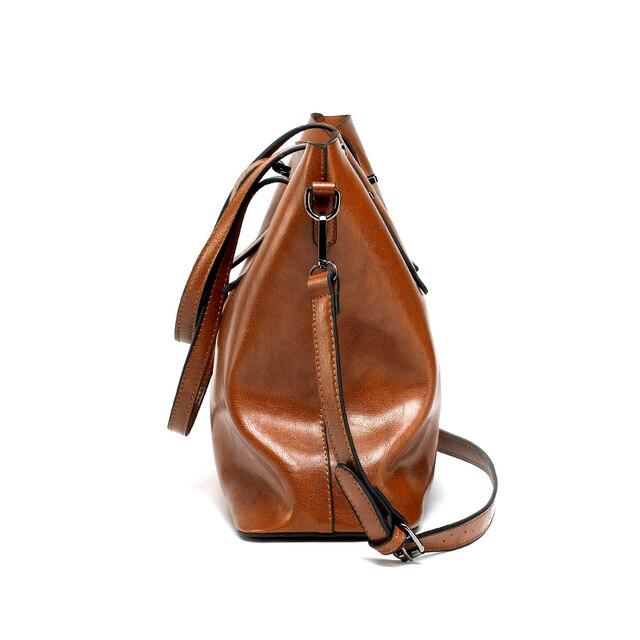 DIDA BEAR Brand Women Leather Handbags Lady Large Tote Bag Female Pu Shoulder Bags Bolsas Femininas Sac A Main Brown Black Red 1