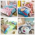 Totoro cartoon juegos de cama para niños decoración para el hogar de algodón de tamaño doble reina rey edredón/edredón cubre la ropa de cama 3/4 piezas ropa de cama