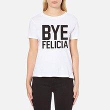 c242c531d H712 Women Fashion Summer Short Sleeves BYE FELICIA Print Round Neck White T  shirt(China
