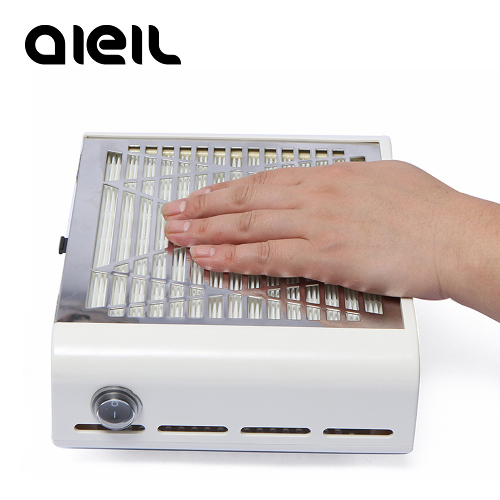 Image 2 - Nail Dust Collector 40W Manicure Machine Suction Nail Dust Collector Suction Machine Vacuum Cleaner for Nail Gel Polish Manicure-in Nail Art Equipment from Beauty & Health