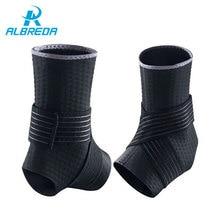ALBREDA Ankle Support Basketball Sport Professional Adjustable Neoprene Ankle Sleeve Thigh Skin Protector Ankle Brace Sport Safe