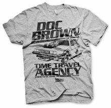 Back to the Future Doc Brown Marty McFly oficial Camiseta para hombre Short Sleeve Men T shirt  Tops Summer