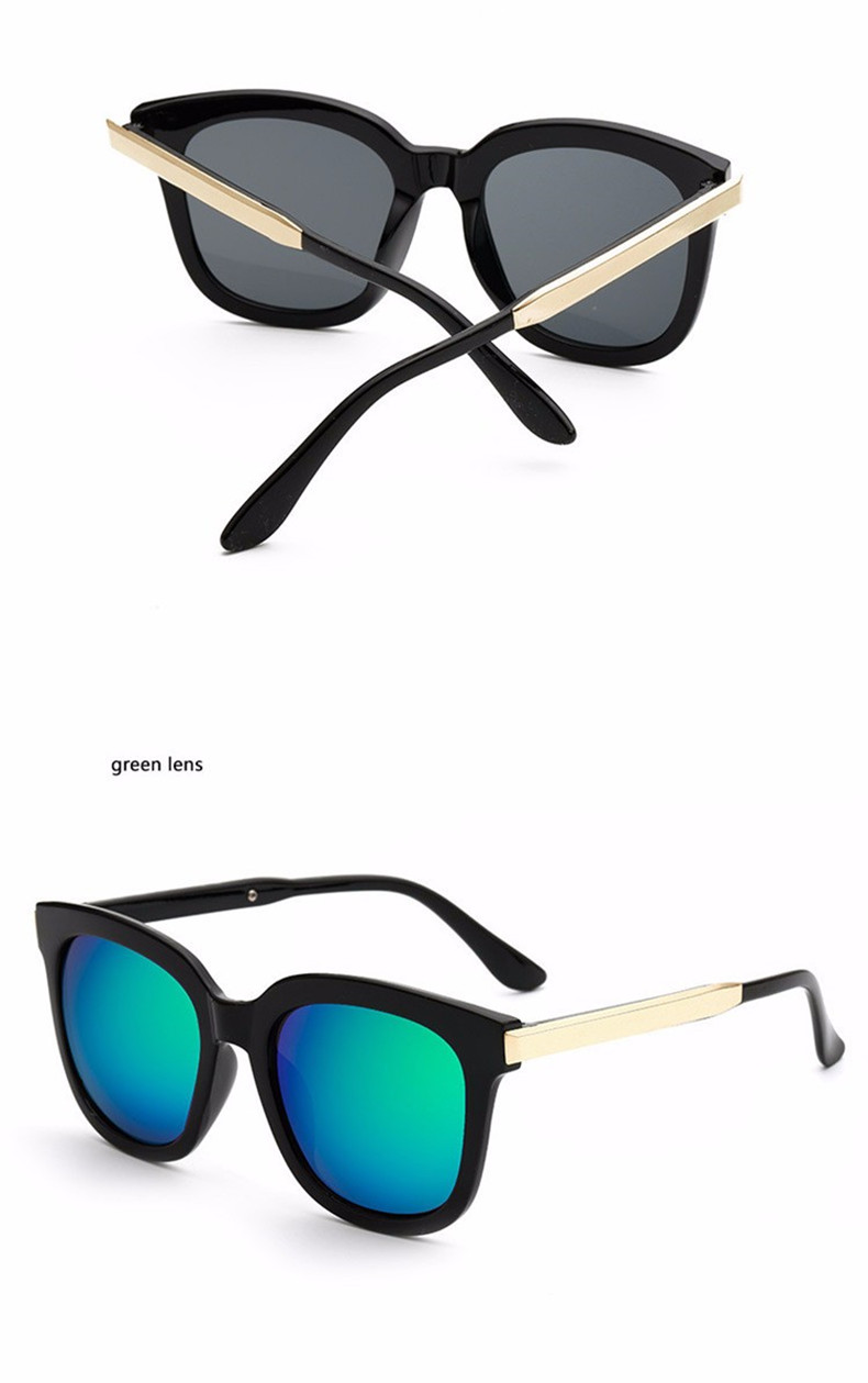 High Quality Couple Square Sunglasses Women Brand Designer Vintage Retro sun glasses for women Men Sunglass Mirror Lunette Femme (10)