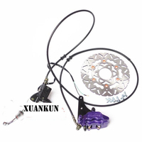 XUANKUN Zoomer Motorcycle Pedal Electric Car Accessories Hydraulic Disc Brakes Assembly With Reel