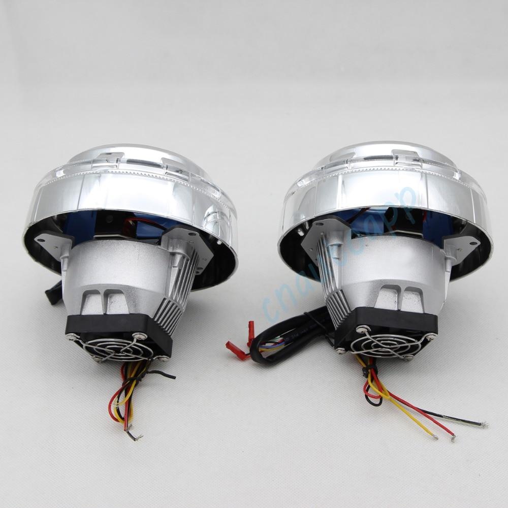 Avtomobil LED fənərləri RGB mələk gözləri Bluetooth App Auto - Avtomobil işıqları - Fotoqrafiya 6