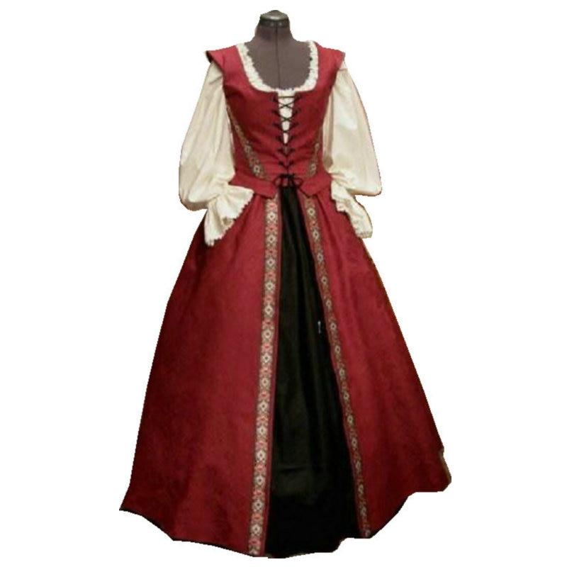 18 Century  Civil War Southern Belle Gown vintage Dress/Victorian  dresses/Ruffled-neck dress US6-26 SC-1209