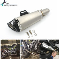 For Kawasaki Z900 Exhaust Muffler Pipe Escape Motorcycle Laser Marking DB killer Beffler Carbon Fiber Accessories Moto Parts