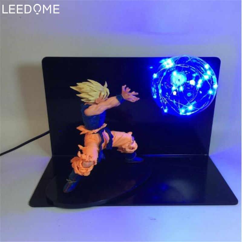 Ночная лампа Leedome Dragon Ball Z VEGETA & GOKU Spirit Bomp мощная светодиодная настольная редкая