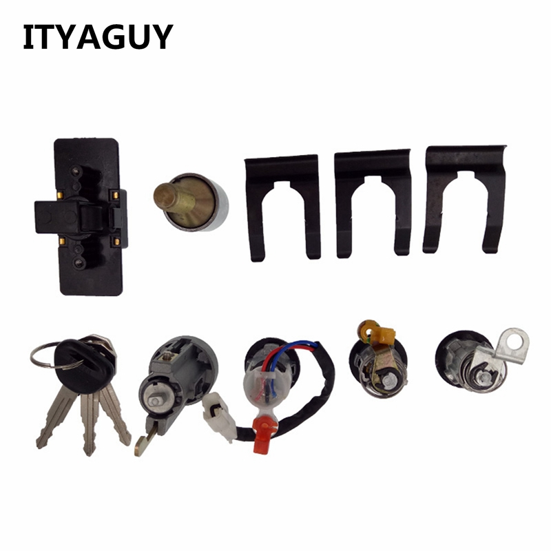 ITYAGUY Lock Cylinder & Key Set  MR259111 For Mitsubishi PAJERO MONTERO II 2nd 4G54 V32