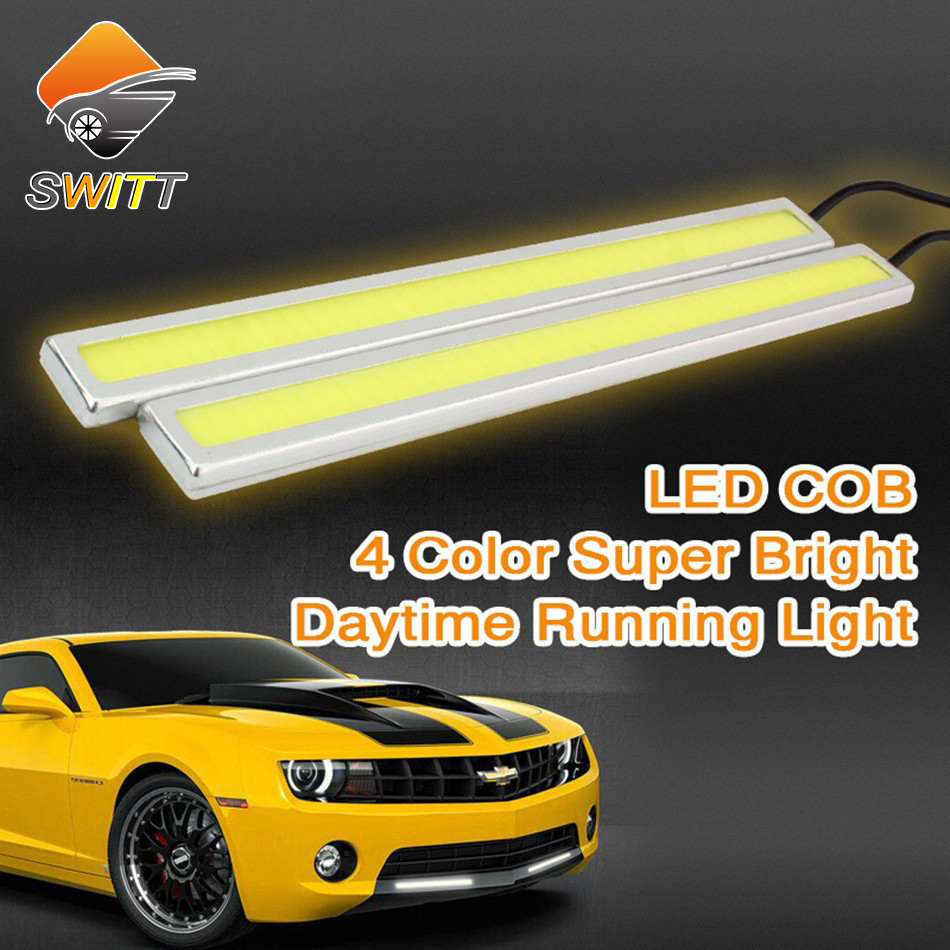 DRL cob daylight Super Bright 100% Waterproof car led fog light daytime running lights parking lamp led car light 1 pair super bright 18w eagle eye hawkeye cob led car headlight drl daytime running light driving fog daylight safety head lamp