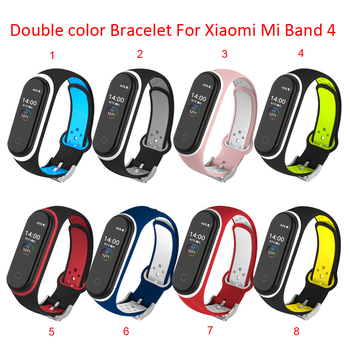 100pcs Sport MiBand 4 3 For Xiaomi Mi Band 4 3 Strap correa Replacement  Silicone Bracelet For MiBand4 M3 M4 NFC wrist strap
