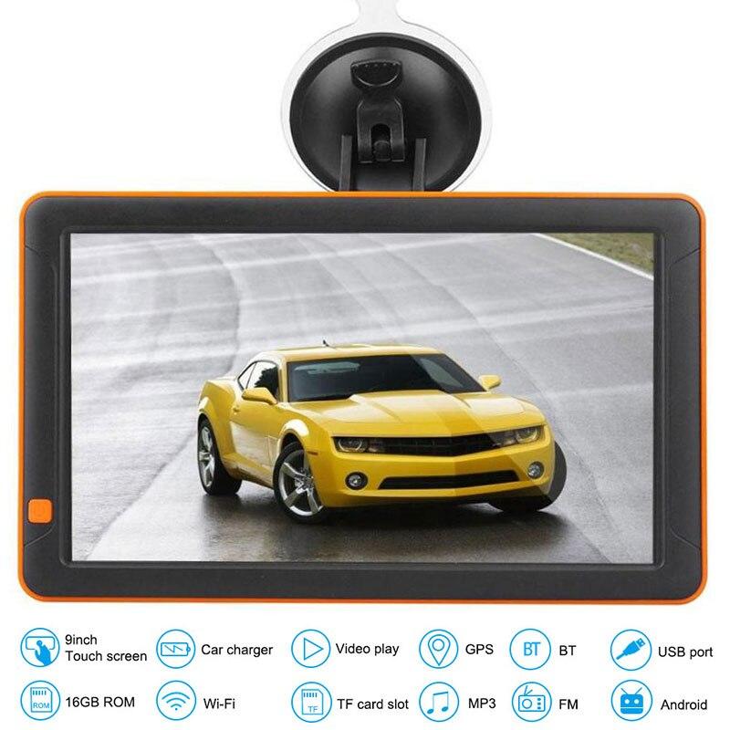 Système de Navigation GPS pratique tour par tour voiture de Navigation DVR ABS Durable 9 pouces universel GPS voiture de Navigation